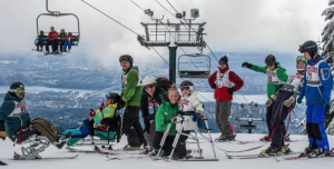 Group is sit skiers with VASS